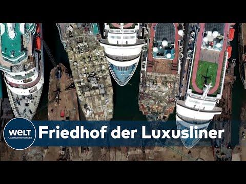 TOD DER TRAUMSCHIFFE: Insolvente Reedereien fangen an ihre Kreuzfahrtschiffe zu verschrotten