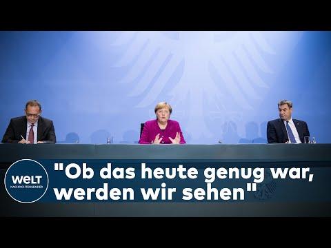 WELT DOKUMENT: Skeptische Merkel bei Corona-Briefing - Beschlüsse reichen vielleicht nicht aus