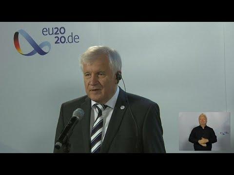 Doorstep zur Videokonferenz der EU-Innenminister