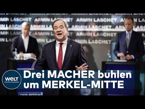 CDU SUCHT DEN SUPERSTAR: Ruhige Bewerbungsrunde von Merz, Laschet und Röttgen bei der Jungen Union
