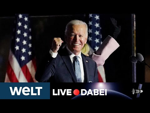 WELT LIVE DABEI: US-Wahl 2020 - Joe Biden hält vor seinen Anhängern die Siegesrede