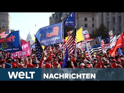 TRUMP-FANS ZEIGEN MACHT: Tausende Unterstützer jubeln dem abgewählten US-Präsidenten  zu
