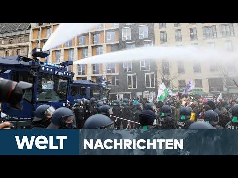 INFEKTIONSSCHUTZGESETZ: Bundestag debattiert - Corona-Leugner legen sich mit Polizei an