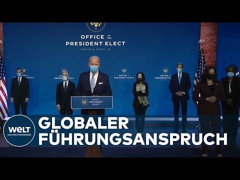 AMERIKA SOLL FÜHREN: Biden stellt geplantes nationales Sicherheitsteam vor
