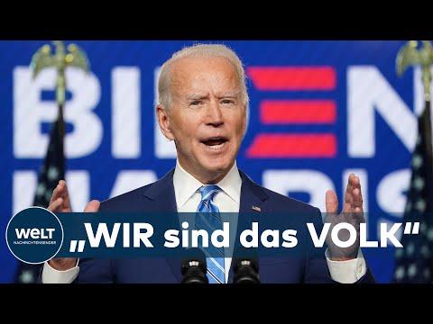 SEHR SIEGESSICHER: Wider dem Hass - Joe Biden ruft Amerikaner zur nationalen Versöhnung auf
