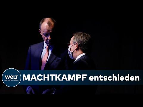 CDU-PARTEITAG: Laschet zum Vorsitzenden gewählt - Merz kämpft mit Brechstange um Kabinettsposten
