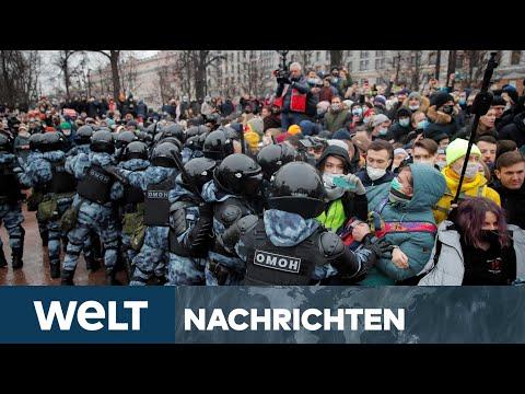 WELT NEWSSTREAM: Harter Zugriff - Heftige Prügel und Festnahmen bei Protest in Moskau