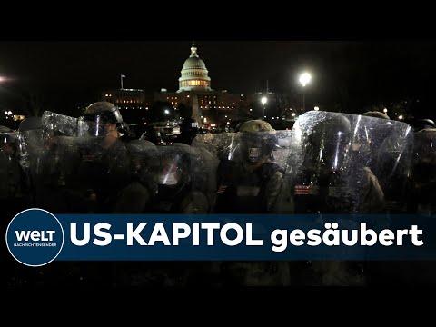 MASSIVER POLIZEIEINSATZ: US-Kapitol gesichert - Kongresssitzung soll weitergehen