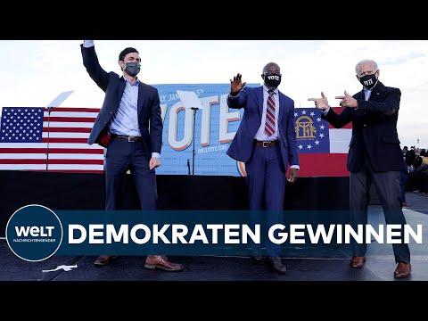 Mehrheit im US-Kongress: Demokraten gewinnen Senatorenwahl in Georgia