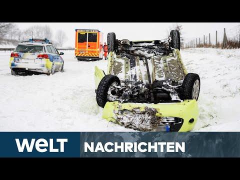 WELT NEWSSTREAM: Extremer Wintereinbruch - Eis & Schnee sorgen für Zugausfälle und hunderte Unfälle