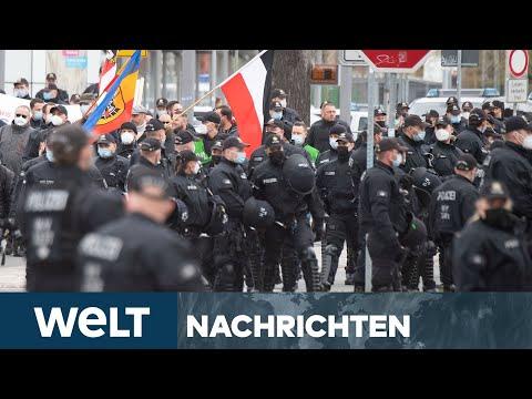 CORONA-LEUGNER & LINKE: Viele Mai-Demonstrationen zwingen Polizei zu Großeinsätzen | WELT Newsstream