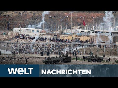 EU-AUSSENGRENZE: Marokko setzt Grenzkontrolle aus - Tausende flüchten nach Spanien | WELT Newsstream