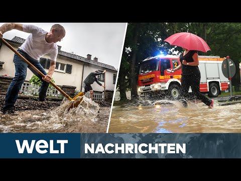 GEFÄHRLICHE UNWETTER: Katastrophenalarm in weiten Teilen Deutschlands | WELT Newsstream