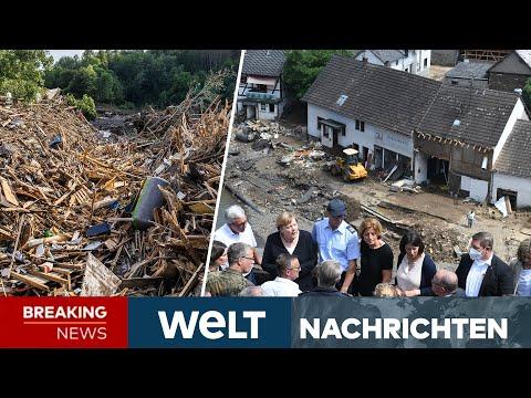"""UNWETTERKATASTROPHE in Deutschland: Merkel nennt Ausmaß """"surreal, gespenstisch""""   WELT Newsstream"""