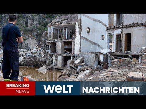 FLUTKATASTROPHE: Kaum noch Hoffnung auf Überlebende - 400 Millionen Soforthilfe | WELT Newsstream