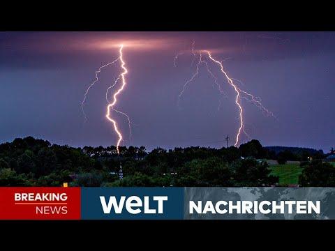 NEUES UNWETTER: Starkregen, Gewitter! Jetzt kommt die nächste Schlechtwetterfront! | WELT Newsstream