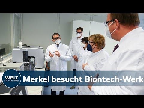 """KANZLERIN MERKEL BEI BIONTECH: """"Wir müssen weiterhin in Forschung und Wissenschaft investieren!"""""""