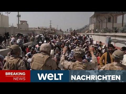 RETTUNG AUS AFGHANISTAN: Mehrere Tote! - Völliges Chaos am Flughafen in Kabul | WELT Newsstream