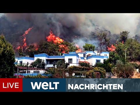 BRANDHÖLLE SÜDEUROPA: Extremhitze in Griechenland - Feuer wüten in der Türkei | WELT Newsstream
