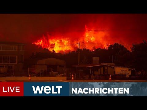 GIGANTISCHE FEUERWALZE: Türken und Griechen kämpfen verzweifelt gegen Flammenmeer | WELT Newsstream