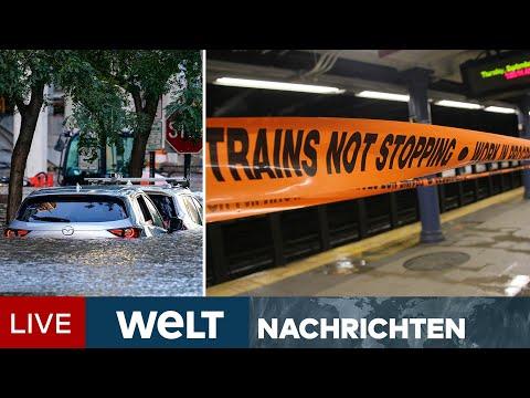 REKORDUNWETTER in USA: Tote, Notstand und Chaos in New York | WELT Newsstream