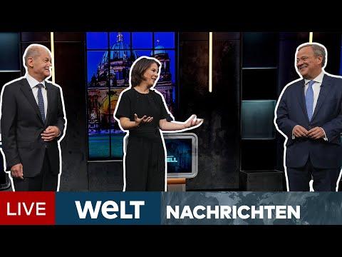 BUNDESTAGSWAHL: TV-Triell! Laschet gegen Scholz und Baerbock auf verlorenem Posten | WELT Newsstream