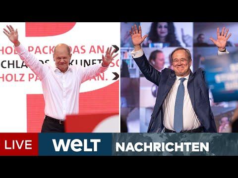BUNDESTAGSWAHL 2021: Letzte Auftritte der Kandidaten - Kampf um Unentschlossene | WELT Newsstream