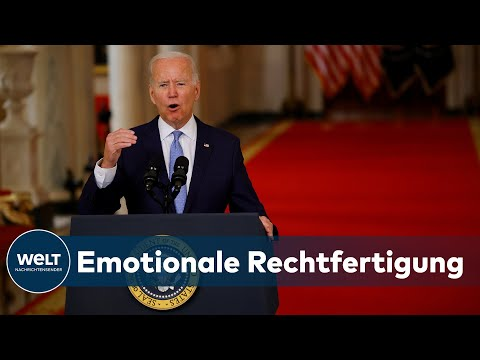 BITTERE ERKENNTNIS: Biden - Afghanistan-Krieg nicht mehr im Interesse der USA   WELT Dokument