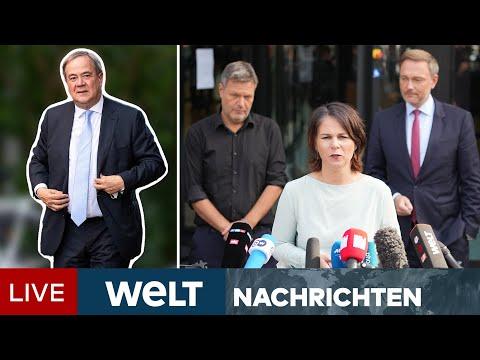 UNION BRÖCKELT - LASCHET WACKELT - Kommt die AMPEL mit SPD, GRÜNE & FDP? | WELT Newsstream