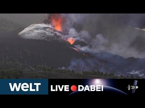HEFTIGER AUSBRUCH: VULKAN Cumbre Vieja auf LA PALMA im Livestream   WELT LIVE DABEI
