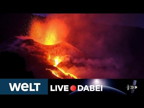 LAVAMONSTER: VULKAN Cumbre Vieja auf LA PALMA im Livestream | WELT LIVE DABEI